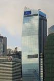 AIG wierza AIA finanse międzynarodowi Centre IFC Hong Kong Admirlty centrum finansowego linii horyzontu Powikłany Środkowy drapac Obrazy Stock