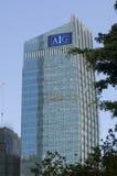 AIG wierza AIA finanse międzynarodowi Centre IFC Hong Kong Admirlty centrum finansowego linii horyzontu Powikłany Środkowy drapac Zdjęcie Stock