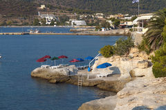 Aigina island in Greece Royalty Free Stock Images