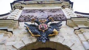 Aigle à deux têtes, un symbole de la Russie images libres de droits