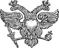 aigle à tête double illustration libre de droits
