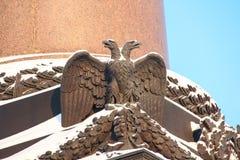 Aigle à tête double impérial russe Photographie stock