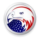 Aigle avec l'indicateur américain Images libres de droits