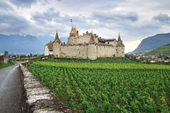 Aigle Castle. Switzerland Stock Photos