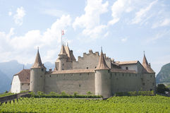Aigle Castle, Switzerland Royalty Free Stock Photography