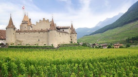 Aigle Castle. Today the castle is home to Vine and Royalty Free Stock Image