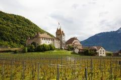 Aigle Castle and winary, Aigle, Switzerland Stock Photography