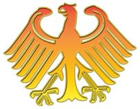 Aigle d'or allemand illustration stock
