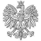 Aigle de la Pologne, manteau de bras national polonais illustration stock