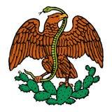 Aigle de Mexicain de couleur illustration stock