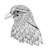 Aigle de zentangle de détail illustration de vecteur