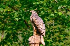 Aigle en bois Photo stock