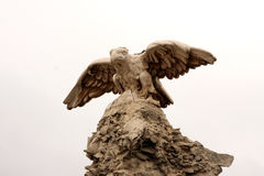 Aigle en pierre photos libres de droits