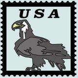 Aigle gras des Etats-Unis de timbre-poste Photographie stock