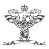 Aigle héraldique. Images stock