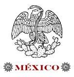 Aigle mexicain illustration de vecteur