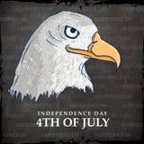 Aigle national américain d'oiseau pour la célébration de Jour de la Déclaration d'Indépendance Photo libre de droits
