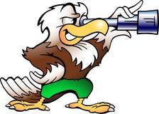 Aigle observant dans Binucular Images libres de droits