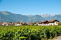 Aigle town royalty free stock photography