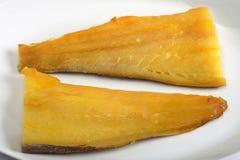 Aiglefins fumés horizontaux image libre de droits