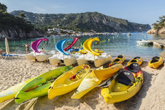 Aiguablava beach in Costa Brava, Catalonia, Spain Royalty Free Stock Images