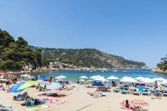Aiguablava beach in Costa Brava, Catalonia, Spain Royalty Free Stock Image