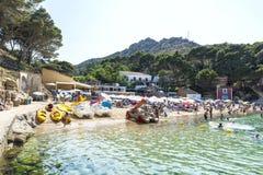 Aiguablava beach in Costa Brava, Catalonia, Spain stock images