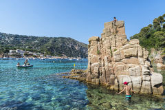 Aiguablava beach in Costa Brava, Catalonia, Spain Stock Photos