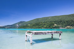 Aiguebelette jezioro Zdjęcia Royalty Free