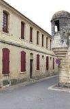 Aigues-Mortes,法国的垒角落 免版税库存照片