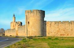 Aigues-Mortes Около Монпелье и Nîmes Франция южная город средневековый Стоковые Изображения