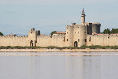 Aigues Mortes. A fortified city in the camargue stock image