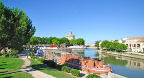 Aigues-Mortes, Camargue Stockbilder
