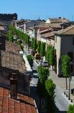 Aigues-Mortes, città medievale in Francia del sud fotografia stock libera da diritti
