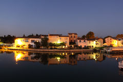 Aigues-Mortes at dusk, France Royalty Free Stock Photo