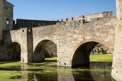 Aigues-Mortes (France): bridge. Aigues-Mortes (Gard, Languedoc-Roussillon, France): historic bridge Royalty Free Stock Image