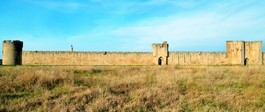Aigues-Mortes Nära Montpellier och Nîmes södra france medeltida stad Arkivbilder