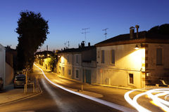 Aigues-Mortes at night, France Stock Photos