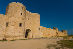 Aigues Mortes Old City Wall Gate H Stock Photos