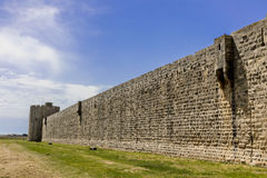 Aigues-Mortes old town wall Royalty Free Stock Photo
