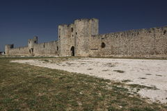 Aigues-Mortes Ramparts stockbilder