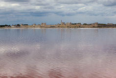 Aigues Mortes from the saltpan Royalty Free Stock Photography