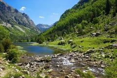 Aiguestortes nationalpark royaltyfri fotografi