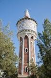 AiguesTower, parque de Barceloneta, Barcelona, España Foto de archivo libre de regalías
