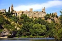 aigueze法国中世纪南部 免版税库存图片