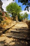 Aigueze ancient steps, France Stock Images
