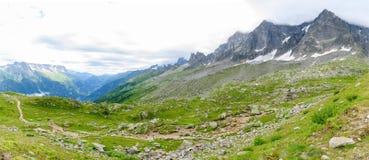 Aiguile de Chardonnet Mont Blanc Stock Photography