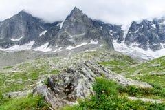 Aiguile du Chardonnet of Mont Blanc Royalty Free Stock Photos