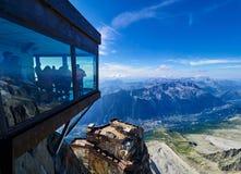 aiguille Chamonix du France Midi fotografia royalty free