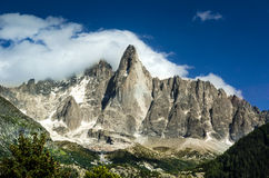 Aiguille de Midi, Chamonix Stock Photo
